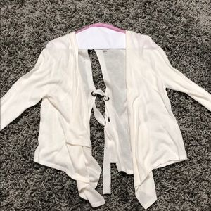 JCPenny cream cardigan